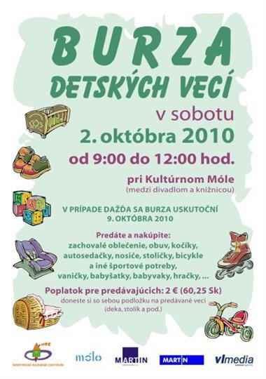 Burza detských vecí už túto sobotu  Transparentné mesto  Mesto Martin f7254202b51